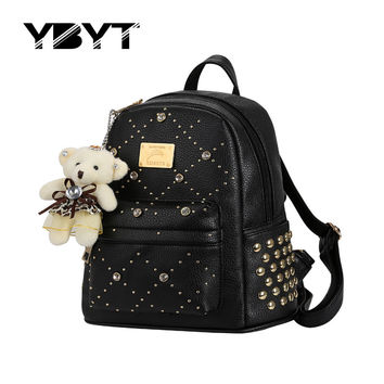 Ybyt Diamonds Solid Pu Backpacks For Women 0945