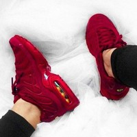 NIKE Air Max Plus Tn Ultra Colorful 3M Sneakers Women Men Sports Shoes   Full Red