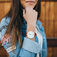 Tan Leather Rose Gold Watch