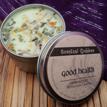 GOOD HEALTH Intention Candle - Make Healthy Lifestyle Changes Diet Exercise Drinking Water