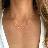 Sideway Initial Necklace