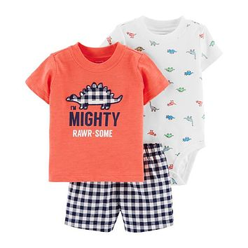 CARTERS Carters 3-Pc. Bodysuit Set - Baby Boys