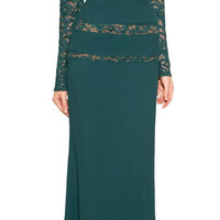 Elie Saab - Lace Paneled Gown