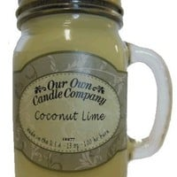 Coconut Lime Scented 13 Ounce Mason Jar Candle By Our Own Candle Company