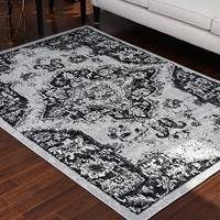 5059 Gray Oriental Area Rugs