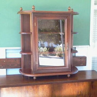 Vintage Curio Cabinet Wall Mount or Table Top