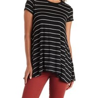 Combo Striped Swing Tunic Tee by Charlotte Russe