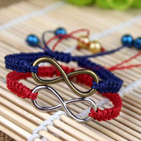 Hemp Macrame Infinity Bracelet,Chinese traditional culture, the manual weaving lace bracelets, Christmas gifts