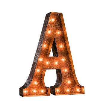 """24"""" Vintage Lighted Marquee Letters (Typewriter Font)"""