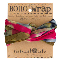 Boho Wrap in Olive & Pink Tie-Dye by Natural Life
