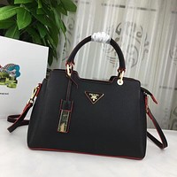 prada women leather shoulder bags satchel tote bag handbag shopping leather tote crossbody 259
