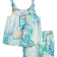 Tea Collection Tropical Floral Top & Shorts Set (Baby Girls) | Nordstrom