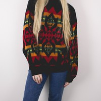 Vintage Tribal Aztec Knit Sweater