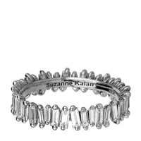 Suzanne Kalan White Gold Baguette Diamond Ring