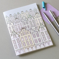 Flemish Townhouses Notebook