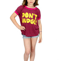 Dirtee Hollywood Don't Judge Tee | Mod Angel