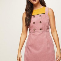 PETITE Pink Chunky Cord Pinafore Dress | Miss Selfridge