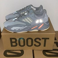 Bunchsun Adidas Yeezy 700 Runner Boost Trending Women Men Stylish Sport Running Shoes Sneakers Grey