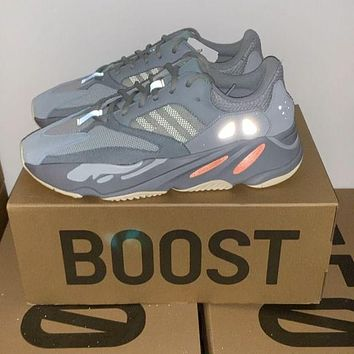 Adidas Yeezy 700 Runner Boost Trending Women Men Stylish Sport Running Shoes Sneakers Grey
