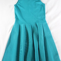 """~~~ TWIRLY PERFECTION ~~~ PARKER """"PEACOCK"""" SLEEVELESS KNIT A-LINE DRESS ~~~ XS"""