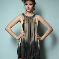 Ombre Fringe 20s Flapper Metallic Great Gatsby Jazz Theme Party Dress One Size Alternative Measures - Brides & Bridesmaids - Wedding, Bridal, Prom, Formal Gown