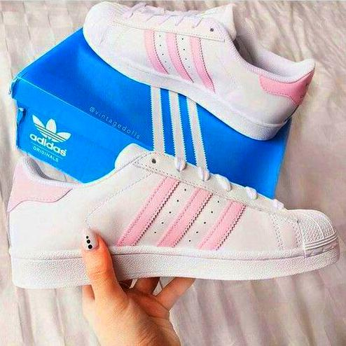 """Image of """"Adidas"""" Fashion Shell-toe Flats Sneakers Sport Shoes"""
