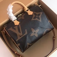 LV Louis Vuitton WOMEN'S MONOGRAM CANVAS SPEEDY 30 HANDBAG SHOULDER BAG