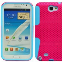 The Friendly Swede 2 in 1 Hybrid Silicone Case for Samsung Galaxy Note 2 Note II N7100 + Matching Stylus in Retail Packaging (Hot Pink + Aqua Blue): Cell Phones & Accessories