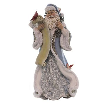 Christmas Santa With Feathered Friends Dove Red Birds Bluejay - 66277