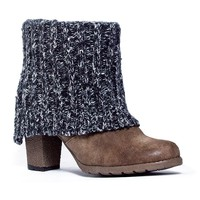 Chris Women's Knit-Cuff Ankle Boots
