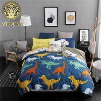 Medusa 2018 new dinosaur boys/girls bedding set king queen double single size bed linen set
