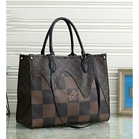 LV Louis Vuitton handbags NEVERFULL picture and mother bag handbag classic old flower checkerboard shoulder bag