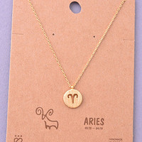 Aries Necklace in Gold