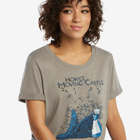 Studio Ghibli Howl's Moving Castle Feathers T-Shirt