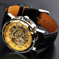 Man Watch Steampunk Mechanical Watch Gold (WAT0081-GOLD)