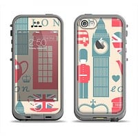 The Vector London Time Red Apple iPhone 5c LifeProof Fre Case Skin Set