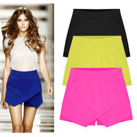 Low Waist Asymmetrical Casual Short Skirt