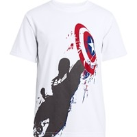 Under Armour Boys' Alter Ego Captain America Illusion Graphic T-Shirt