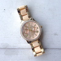 Beauté Crystal Bezel Watch