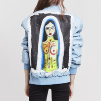 Blue Women's Madonna Conflict Bomber