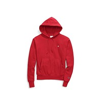 Champion Men's Life Weave Reverse Red Plain Hoodie