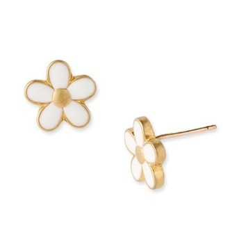 Women's MARC BY MARC JACOBS 'Daisy Chain' Small Stud Earrings - Cream/ Gold