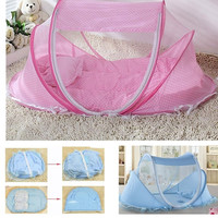 Spring Winter 0-3Years Baby Bed Portable Foldable Baby Crib With Netting Newborn Sleep Bed Travel Bed Baby 100%Cotton = 1930095940