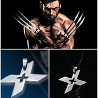 X MEN FASHION SUPER HERO STEEL NECKLACE COSPLAY ANIME LOGO CHAIN PENDANT SILVER