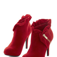 ModCloth Luxe You Haute to Know Heel in Scarlet
