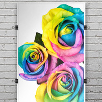 Rainbow Dyed Roses - Ultra Rich Poster Print