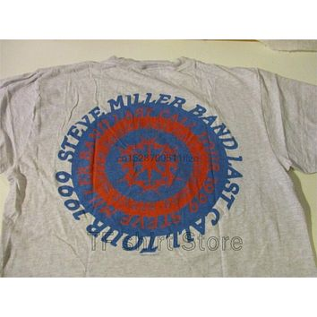 Funny Print Men T shirt Women cool tshirt STEVE MILLER BAND 1999 LAST CALL TOUR T SHIRT LARGE RARE CONCERT|T-Shirts