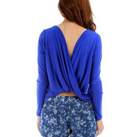 Royal-Blue-Twist-long-sleeve-top