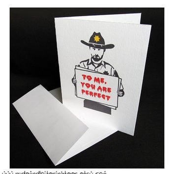 """Walking Dead Card -""""To Me You Are Perfect"""""""
