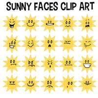 Sunny Faces Clip Art, Sun Clip Art, Preschool Art, Sunny Smiles, Kids Clip Art, Teacher Clip Art, School Sun, Weather Clip Art, Smiley Art
